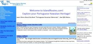 The Portuguese Hawaiian Website was created 14 years ago