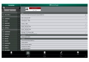 Example of RootsMagic App Individual Screen