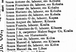 Example of 1890 city directory entries