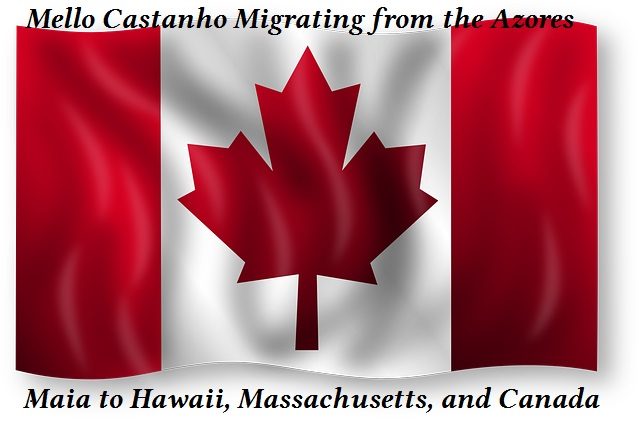 From the Azores to America and now to Canada, Follow the migration of the Mello Castanho family