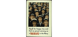 A Navy WAVES recruiting poster may have enticed Ellen Figg