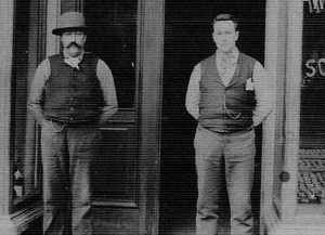 Antoine Lassalle in seen on the left in this early 1900s photograph