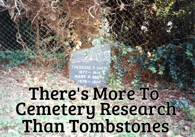 Cemetery files and tombstones