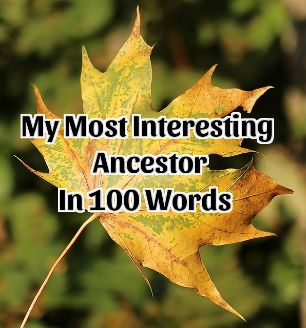 100 Word Challenge:  My Most Interesting Ancestor