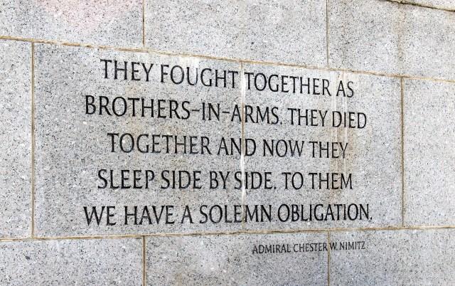 fallen soldier quote admiral nimitz