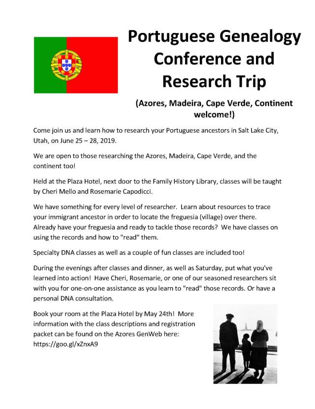portuguese conference june 2019 salt lake city