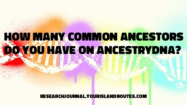 common ancestors dna