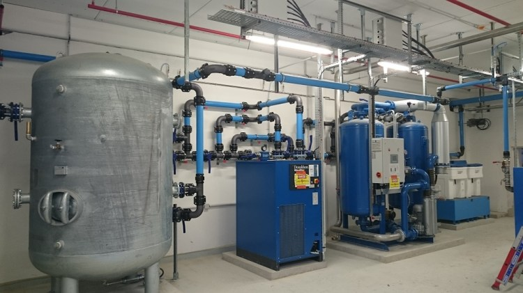 installation d 39 une centrale d 39 air comprim en diam tre 100 mm 4 tuyauterie industrielle en. Black Bedroom Furniture Sets. Home Design Ideas