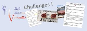 Challenges de cuisine, de restaurant, de pâtisserie destiné aux élèves en formation dans les lycées hôteliers de l'EHV pendant cette période de confinement