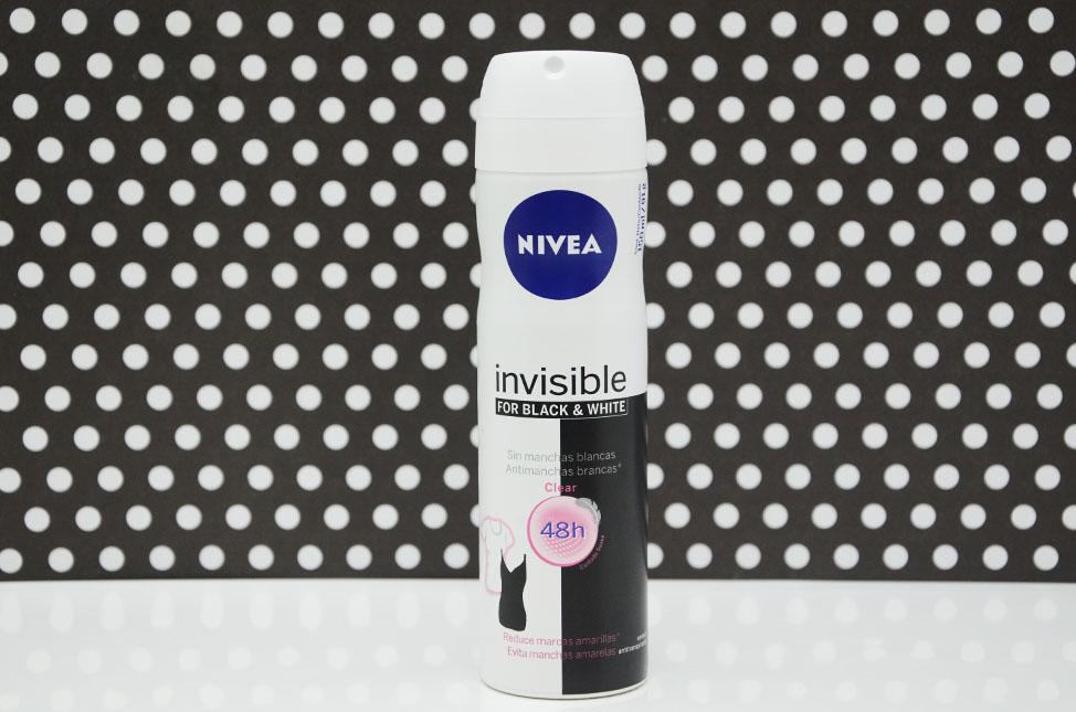Resenha: Desodorante Aerosol Invisible for Black & White Clear Nivea