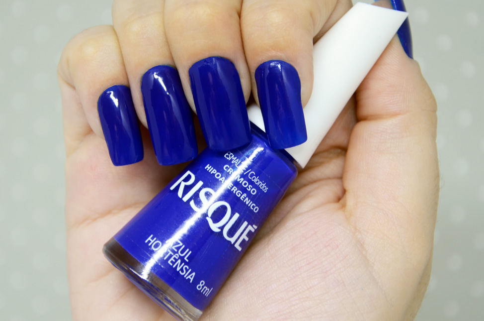 Esmalte Risqué Azul Hortêsia