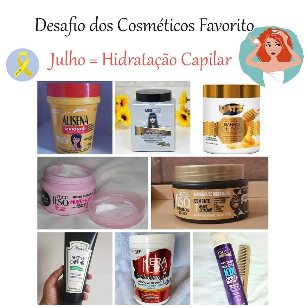 Desafio dos Cosmeticos - Hidratação Capilar