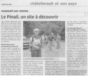 Le Pinail, un site à découvrir, Nouvelle République