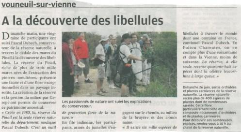 Sortie nature libellules 2011, Nouvelle République