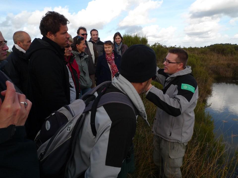 Yann Sellier intervient sur une Sortie sur la réserve naturelle du Pinail lors du CA 2014 RNF