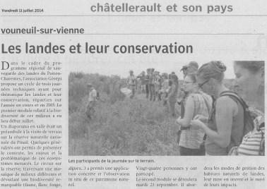Les landes et leur conservation, Nouvelle République