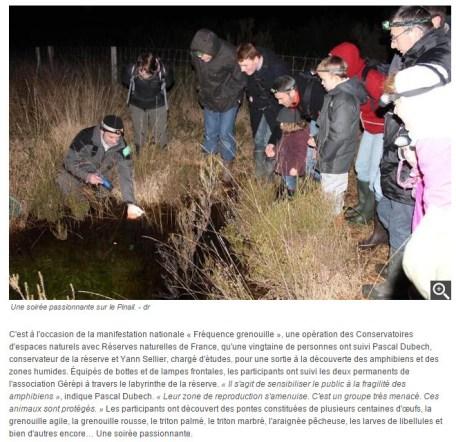 Sortie nature amphibiens 2015, Nouvelle République