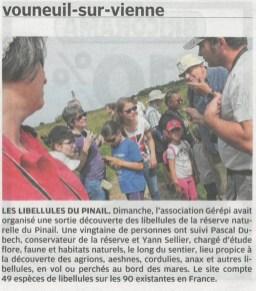 Sortie nature libellules 2015, Nouvelle République