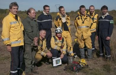 Equipe 2017 du brûlage dirigé de la Réserve du Pinail © Jean-Guy Couteau