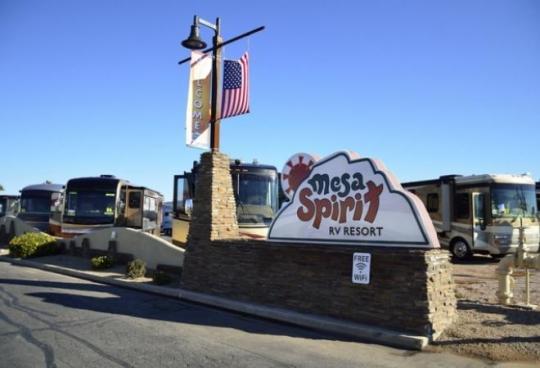 Camping at Mesa Spirit RV Resort AZ