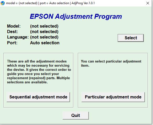 Epson Pro 11880 Adjustment Program