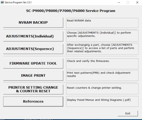Service program for Epson SureColor SC-P6000,SC-P7000,SC-P8000,SC-P9000 -  Reset iNKjET