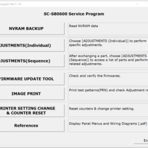 Service Program for Epson SureColor Series SC-F9200 (Free PDF Manual