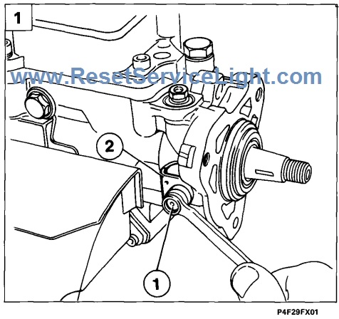 Refitting injection pump and adjusting timing Fiat Marea