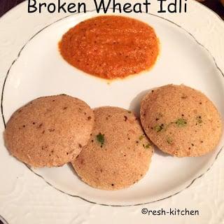 broken wheat idli