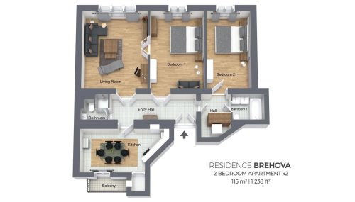 small resolution of two bedroom apartment