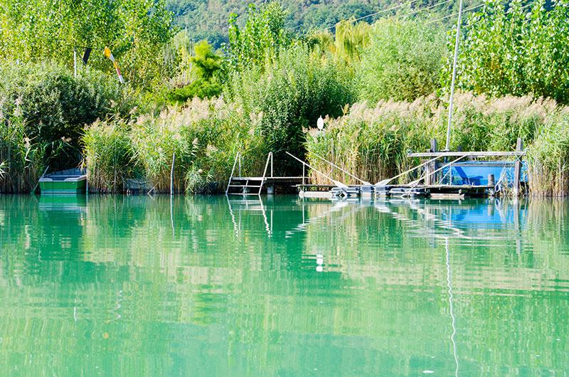 Der Privatsteg am Kalterer See