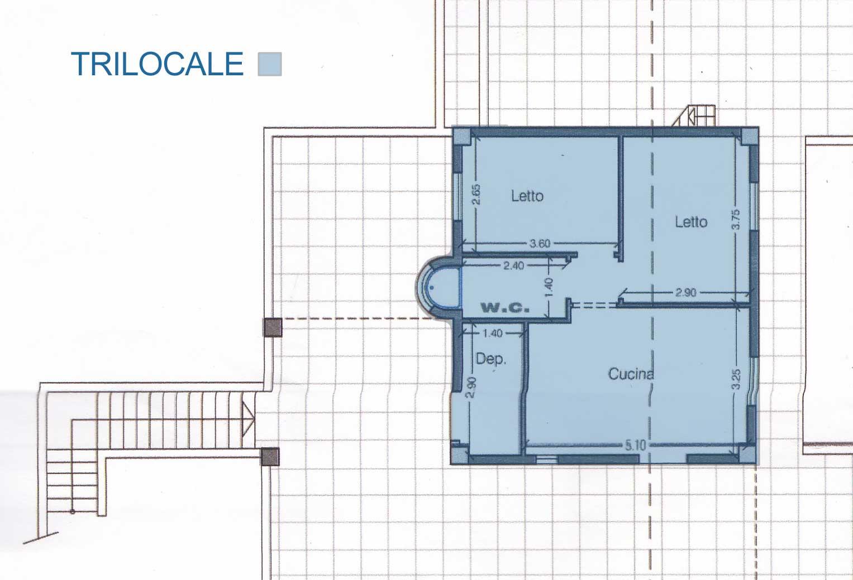 Appartamento Trilocale per 6 Persone vista mare a Lido