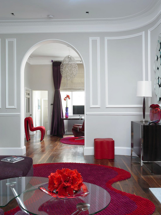 Living Room Red Color Decor Ideas