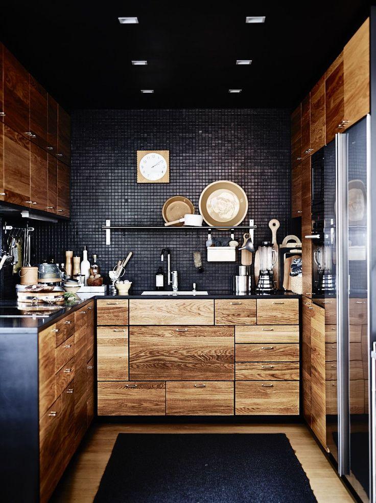 12 Playful Dark Kitchen Designs Ideas  Pictures