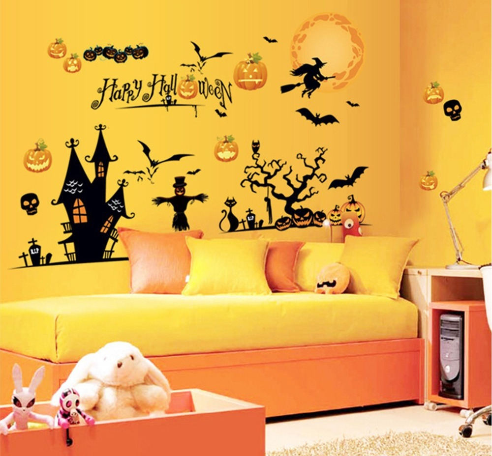 Fall Wallpaper With Pumpkins Spooky But Lovely Kids Room Halloween Decorations Ideas