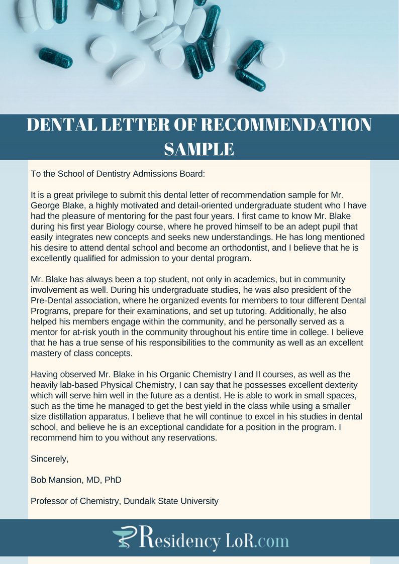 research recommendation letter