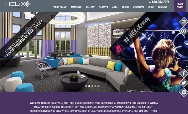 Apartment Website Design Parallax Example
