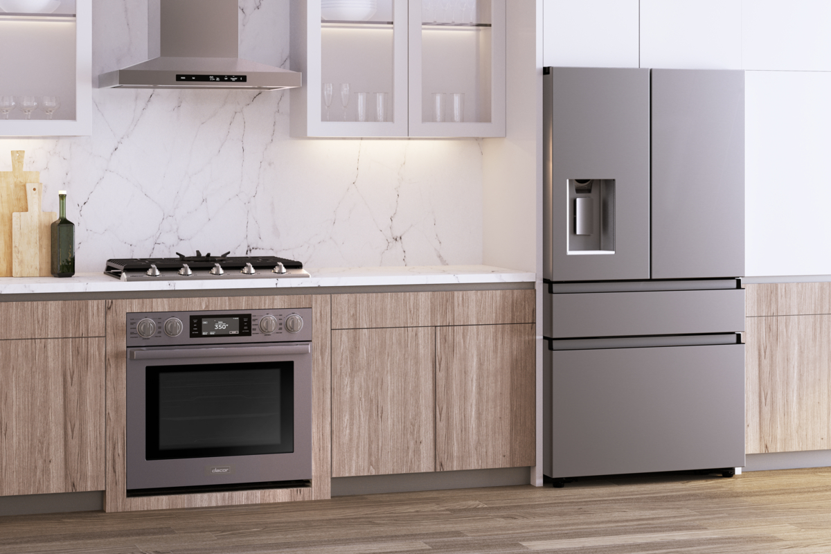 transitional style cooking appliances