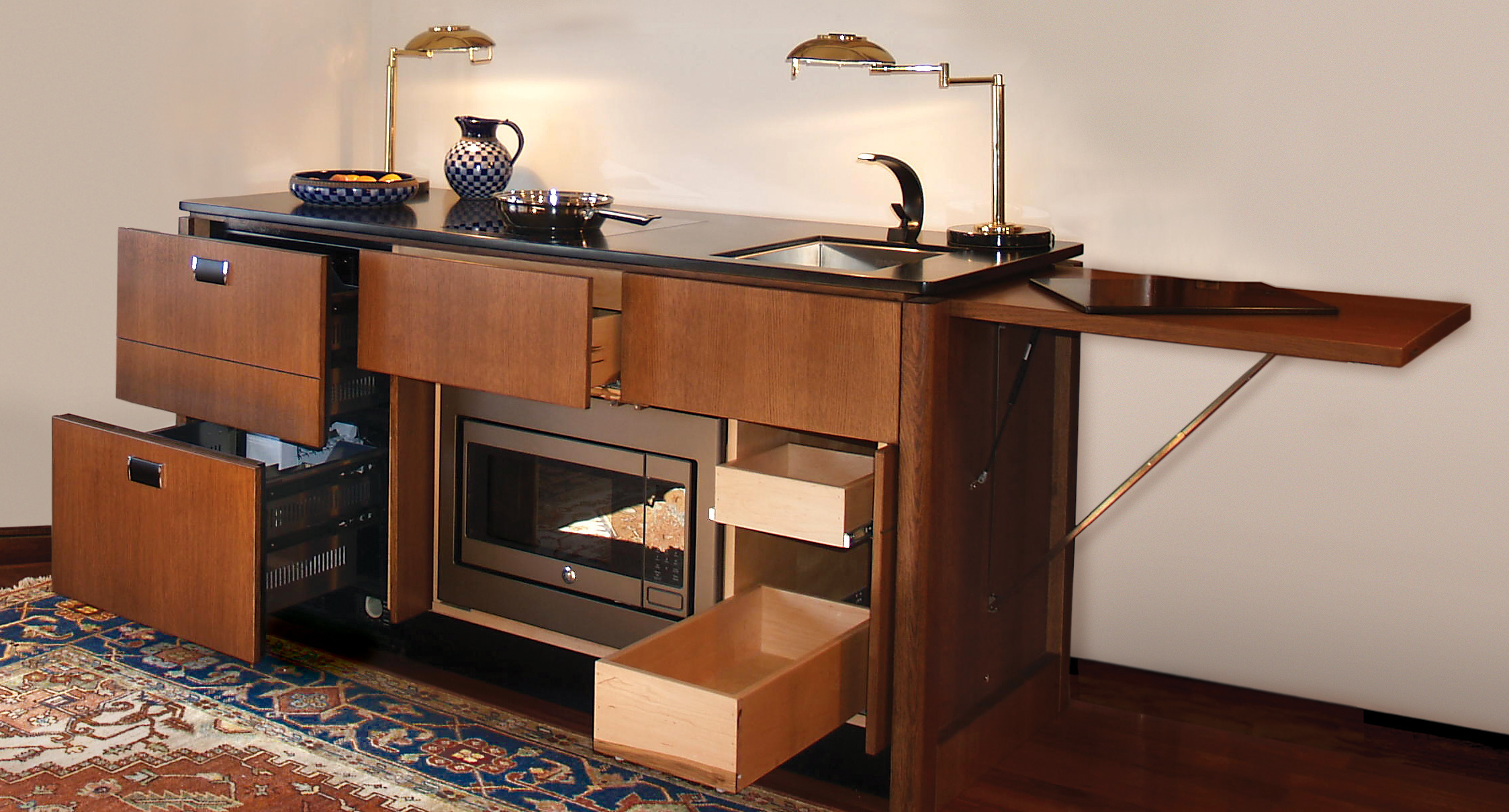 YesterTec Adds Islands to Hidden Kitchen Collection