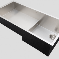 Rohl Kitchen Sinks Buffet Cabinets New Sloped Sink Creates Space Underneath Residential Products Culinario Stainless Steel