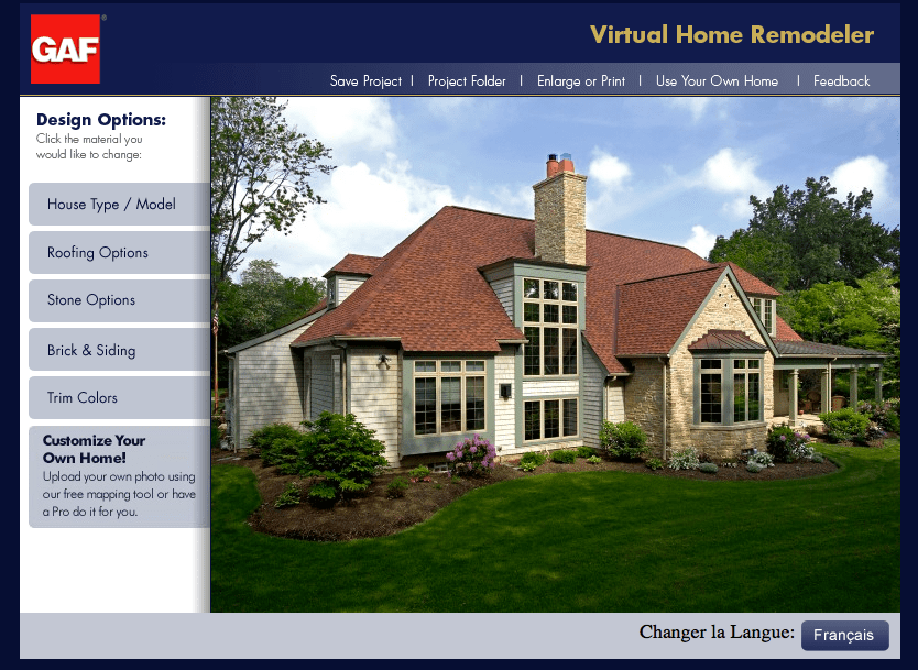 GAF Virtual Home Remodeler A B Edward Enterprises Inc