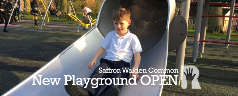 It's OPEN! Excitement as the new playground opens on Saffron Walden Common