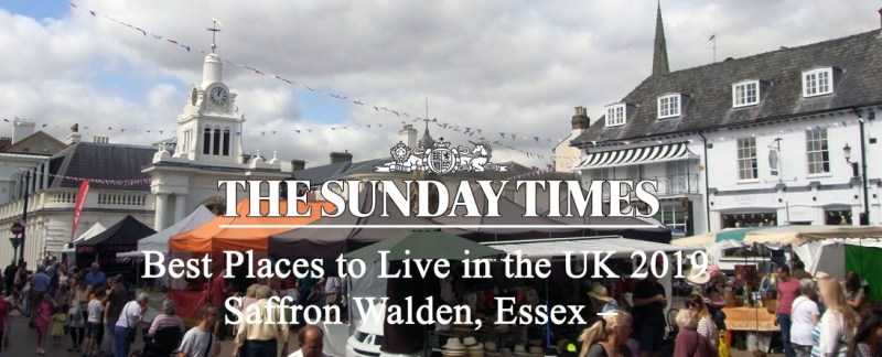 Saffron Walden named on Sunday Times list of Best Places to Live in the UK 2019