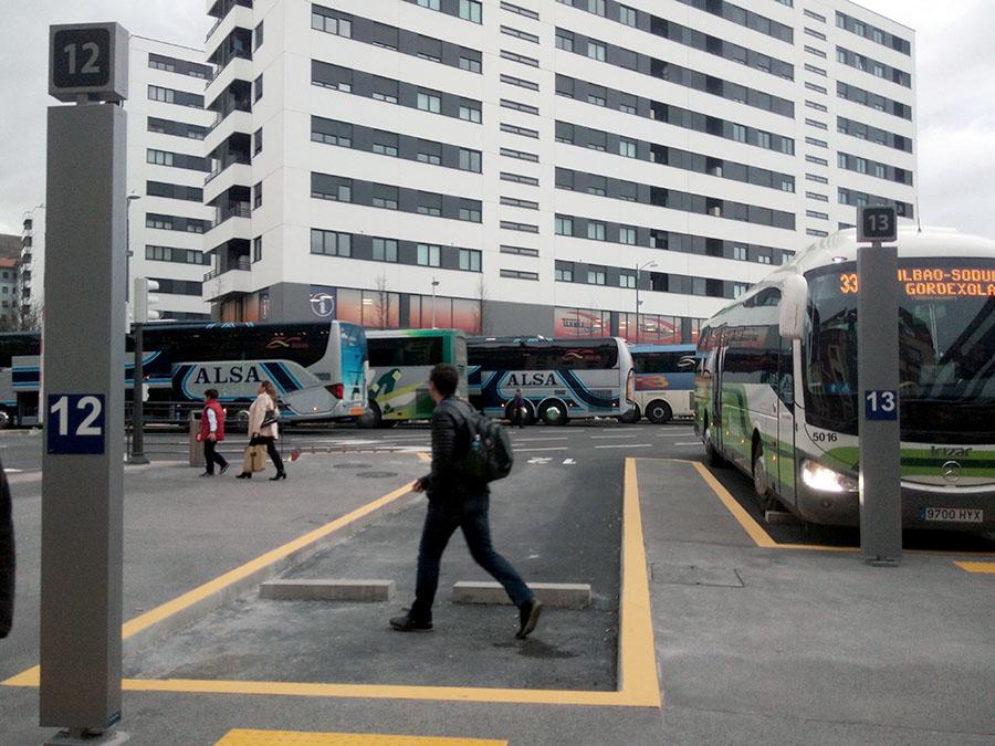 Árido reciclado en el pavimento de la nueva estación de autobuses de Bilbao
