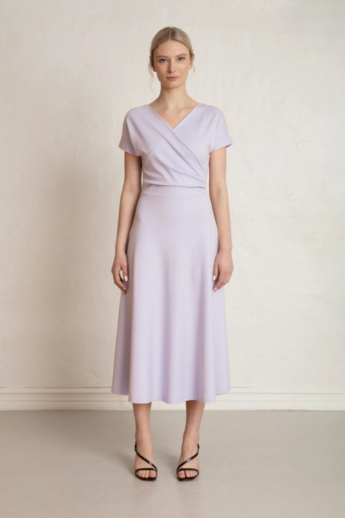 Anis Ecovero Dress in Purple heather