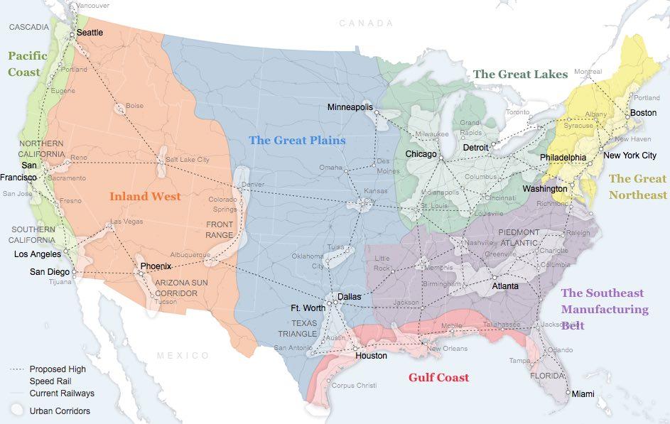 US regions map