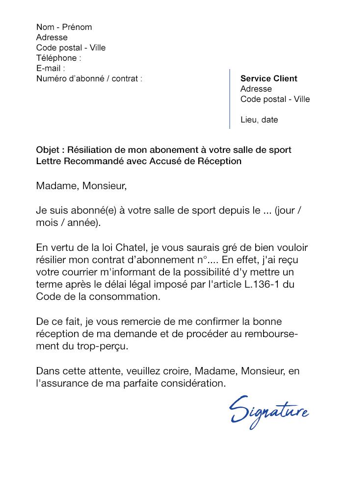 image resiliation assurance loi chatel lettre type lettre de presentation