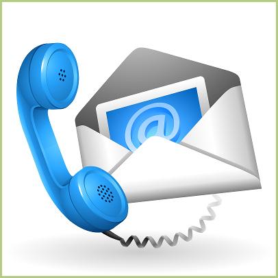 Contact visiteurs - Contacts e-mail ou téléphone