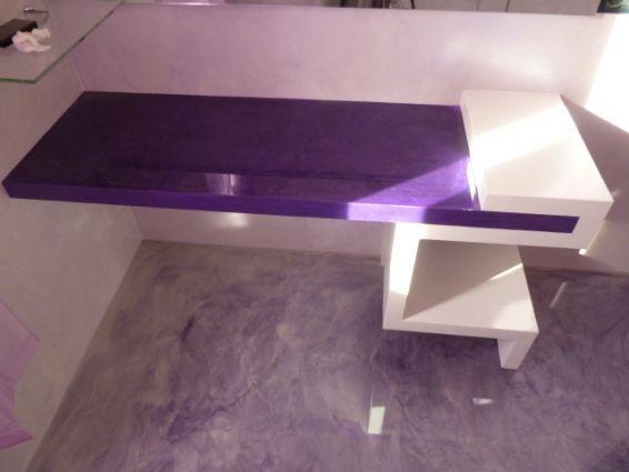 Mobile Bagno in cartongesso e resina  Resine Design