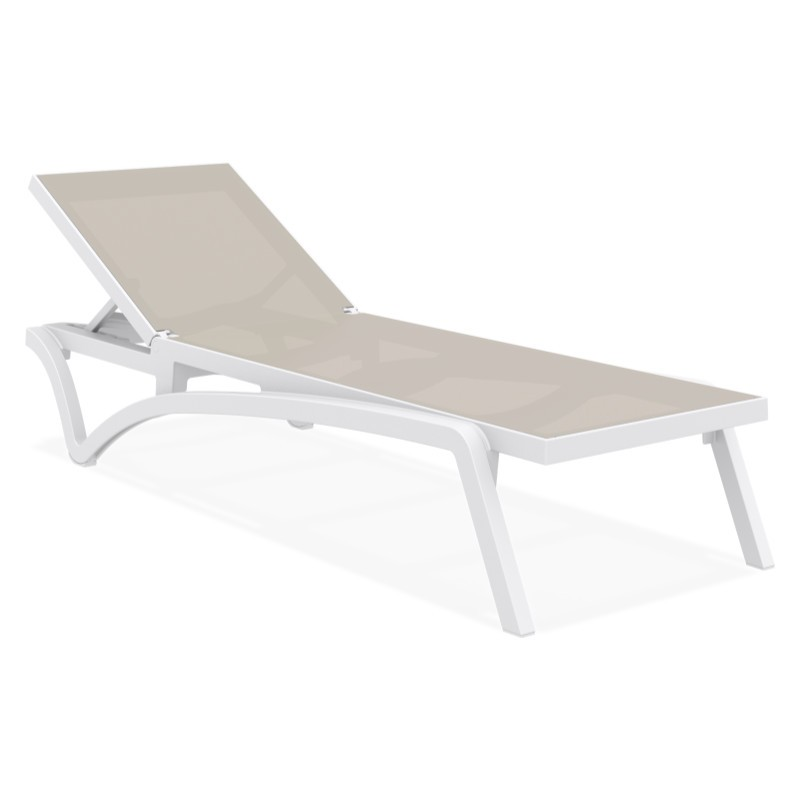 Pacific Resin Sling Chaise Lounge White